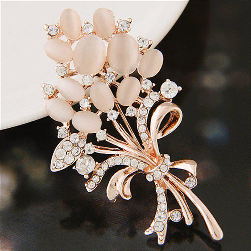 Latest European Style Fashion Exquisite Shiny Rhinestone Flower Brooch