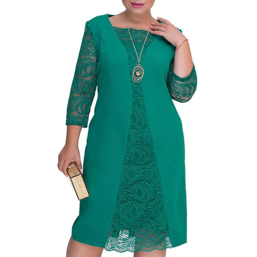 Store Women Lace Dress Green Rob Female 2018 tunics bodycon dress Plus Sizes Dresses