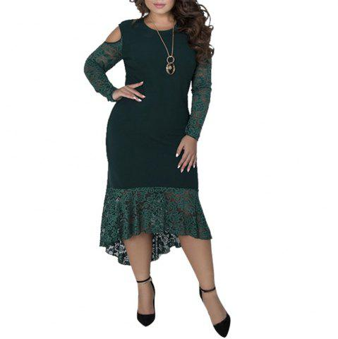 Plus Size Women sping Dresses Long Sleeve Maxi Long Dress Big Size Party