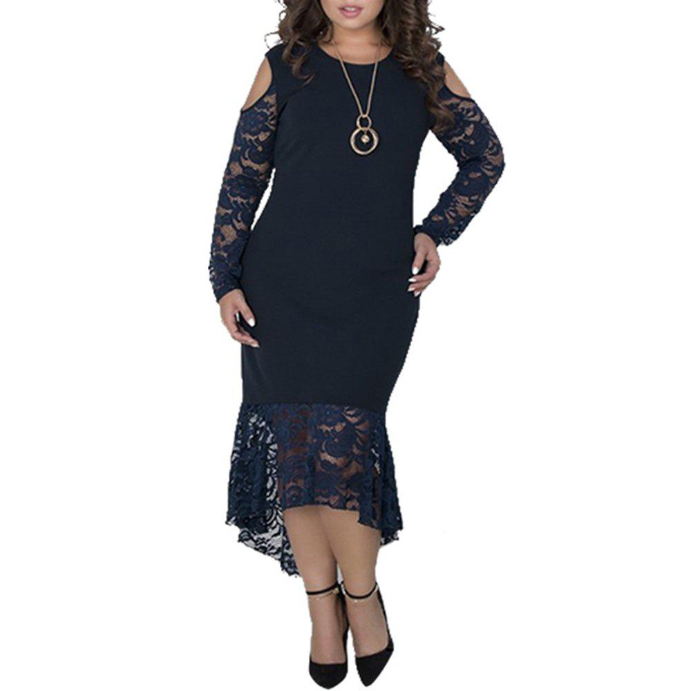 Latest Plus Size Women sping Dresses Long Sleeve Maxi Long Dress Big Size Party