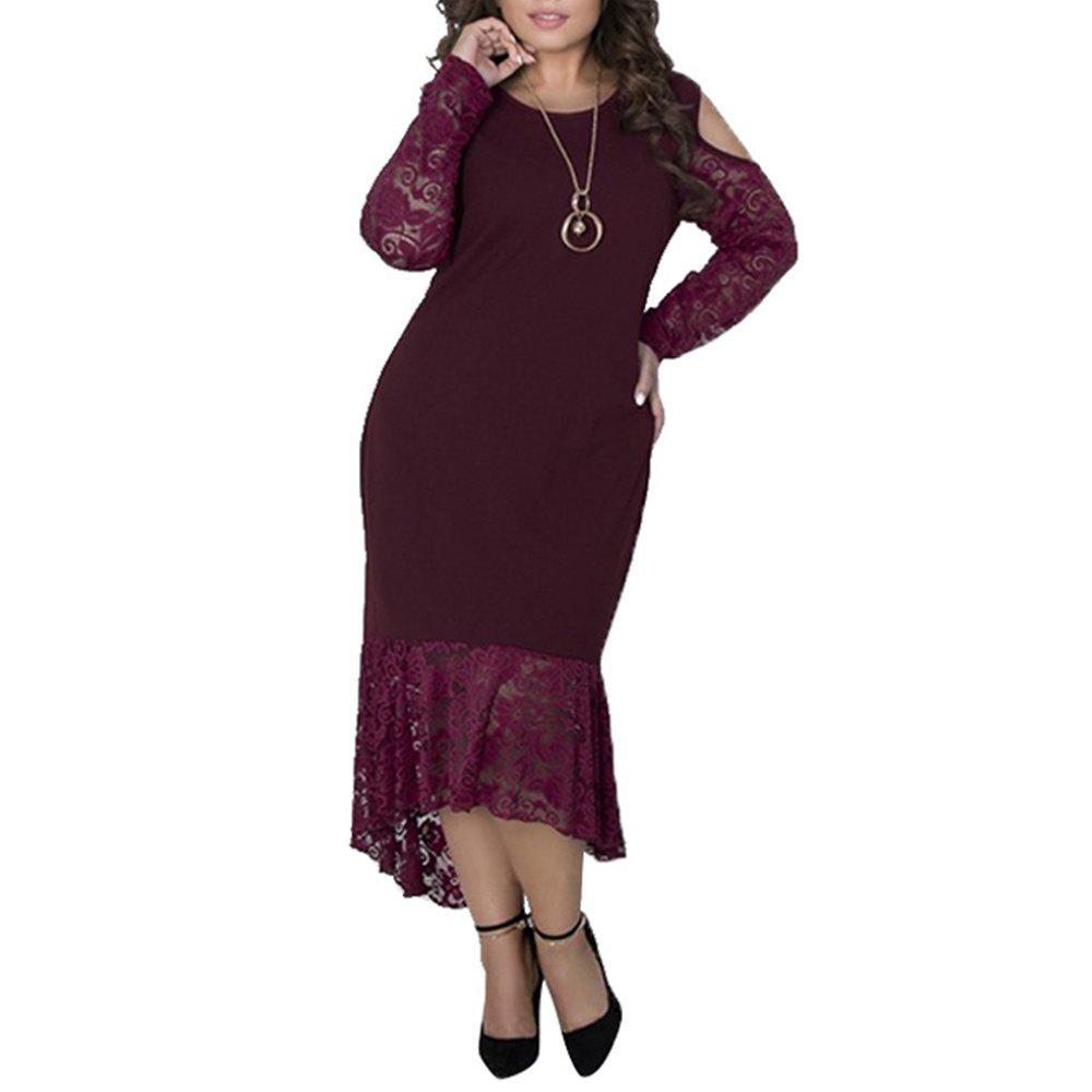 Buy Plus Size Women sping Dresses Long Sleeve Maxi Long Dress Big Size Party