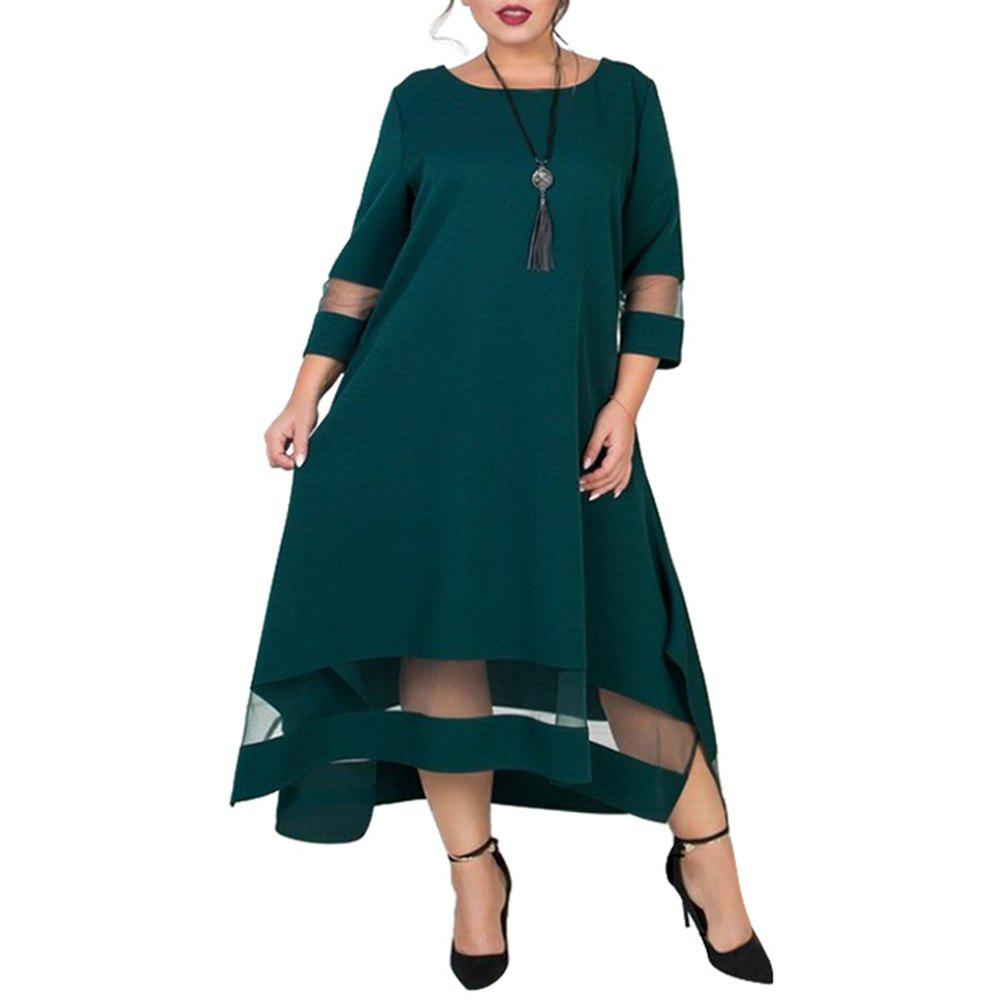 A Line 5xl 6xl Plus Size  Dress Mesh Elegant Women Dress Large Size Long Maxi