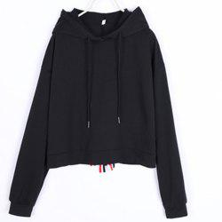 New Colored Bow-Tie Embellished Hoodie -