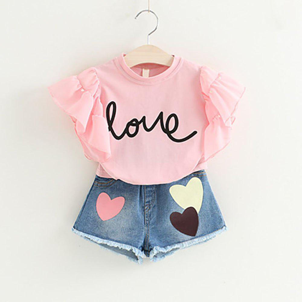 e02b70190a29b Cheap New Baby Clothes Suit Baby Girl Short-Sleeved Jacket Jumpsuit Trousers