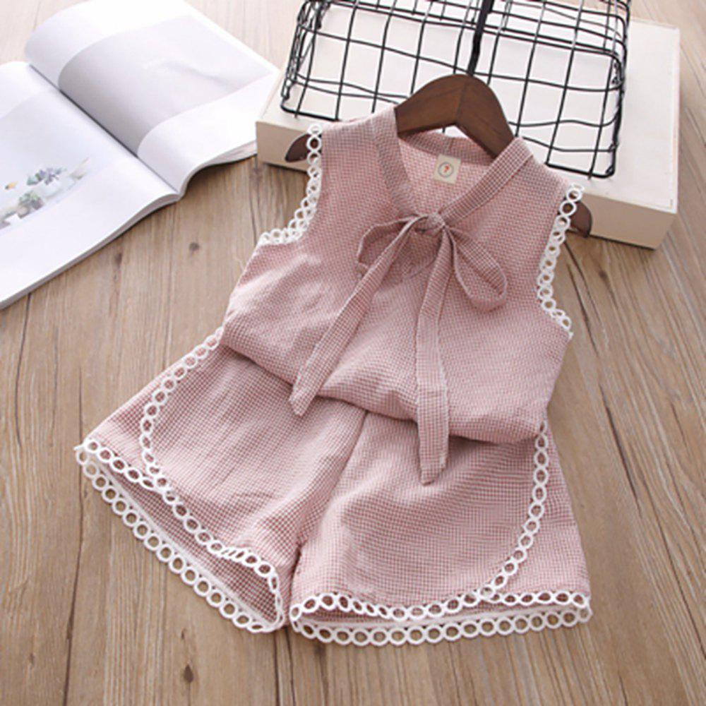 e580fe704 2019 New Children Clothing Wear Girls Fashion Plaid Tank Shorts Set ...