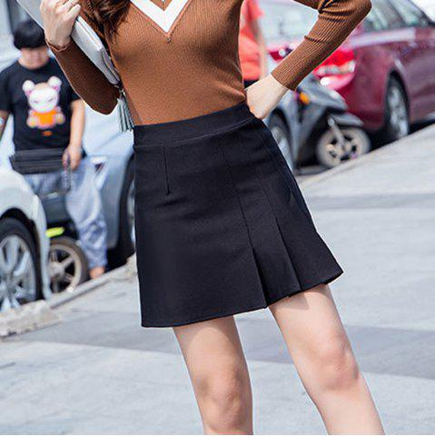 ff6a60d055 Pleated High Waist A-Type Skirt Autumn Wear Short Skirt with Safety Pants