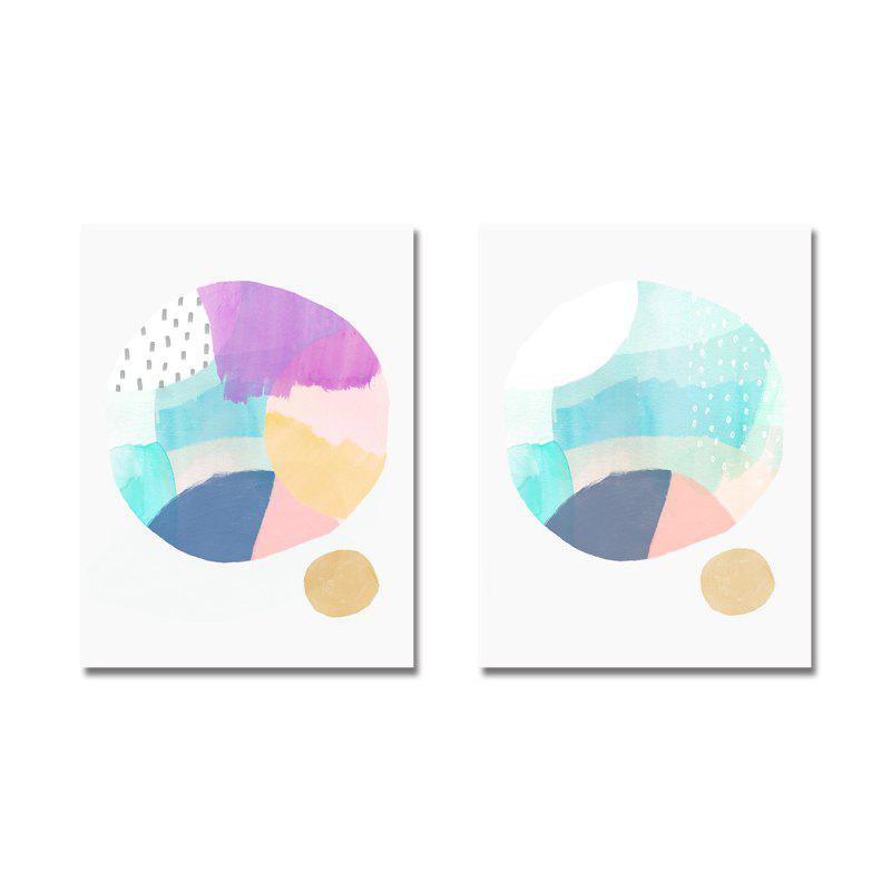 DYC 2PCS Nordic Abstract Geometry Print Art