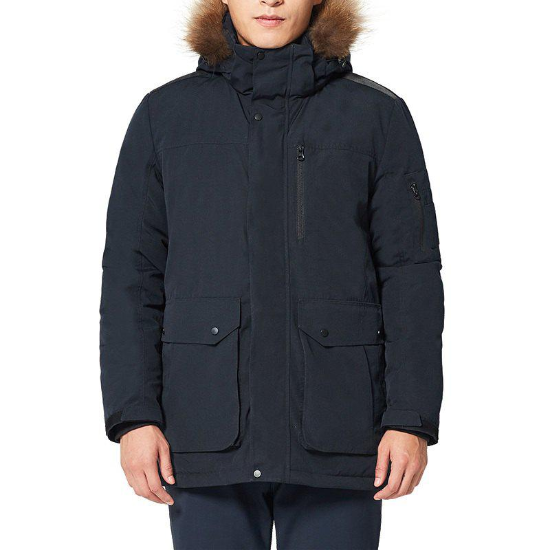 Outfit HUMTTO Men Outdoor Long Duck Down Hooded Thick Warm Waterproof Down Jacket