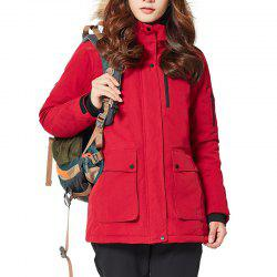 HUMTTO Women Outdoor Long Duck Down Hooded Thick Warm Waterproof Down Jacket -