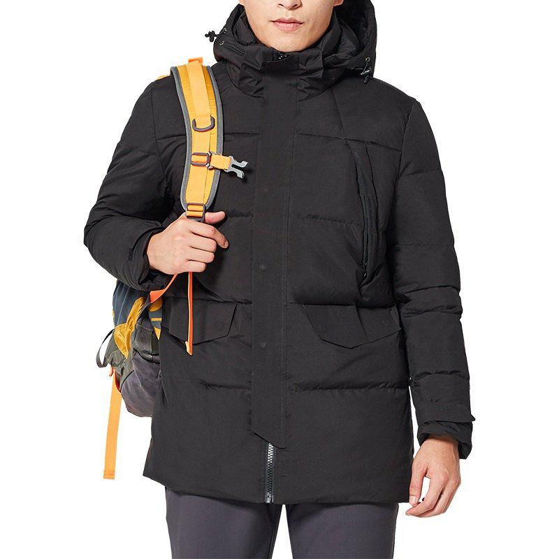 Affordable HUMTTO Down Jacket Men's Fashion Long Hooded Padded Down Jacket