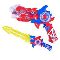 Children's Electric Deformation Toy Sword Two-in-one Toy -