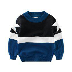 Children'S Color Matching New Sweater Boy'S Sweater Baby Clothes -