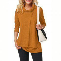 New Long Sleeve High Collar Padded Jacket  Two-Piece Cross T - Shirt -