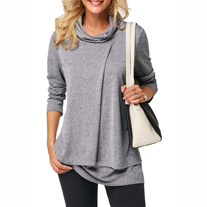 Store New Long Sleeve High Collar Padded Jacket  Two-Piece Cross T - Shirt