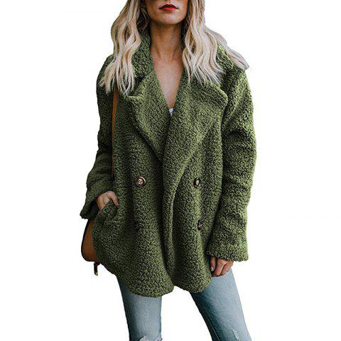 Women Winter Coat Cardigans Ladies Warm Jumper Fleece Faux Fur Coat