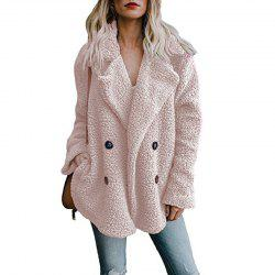 Women Winter Coat Cardigans Ladies Warm Jumper Fleece Faux Fur Coat -