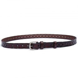 The New Two-Story Cowhide Lady Belt Casual Pin  Women'S Belt -