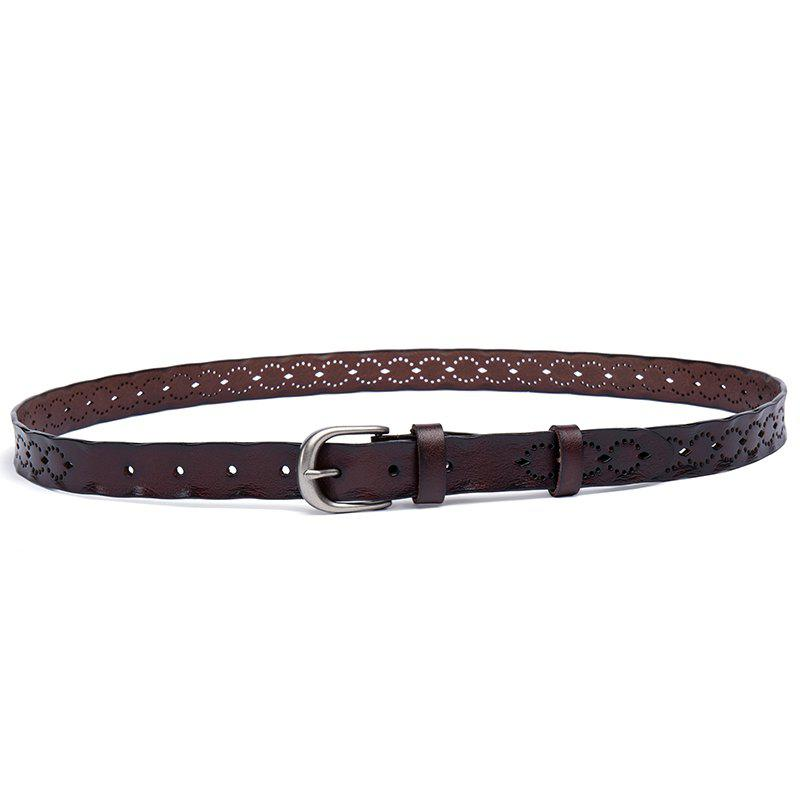 Chic The New Two-Story Cowhide Lady Belt Casual Pin  Women'S Belt