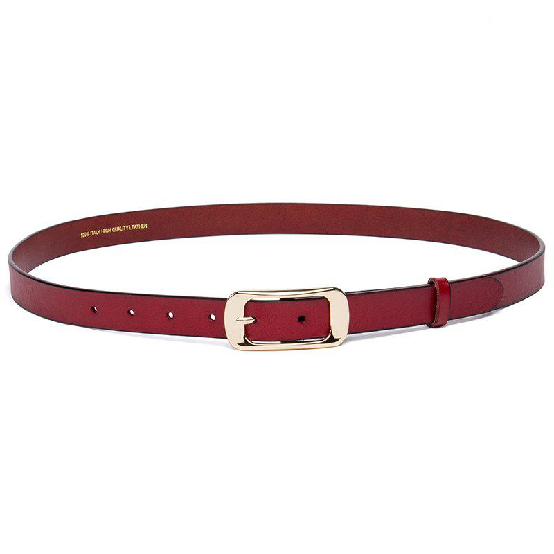 Hot Cowhide Woman Belt Casual Pin  Ladies Belt