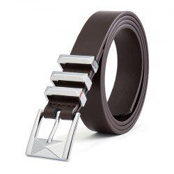 New Stereo Pin Buckle Belt Second Floor Cowhide Universal Belt for Men and Wome -