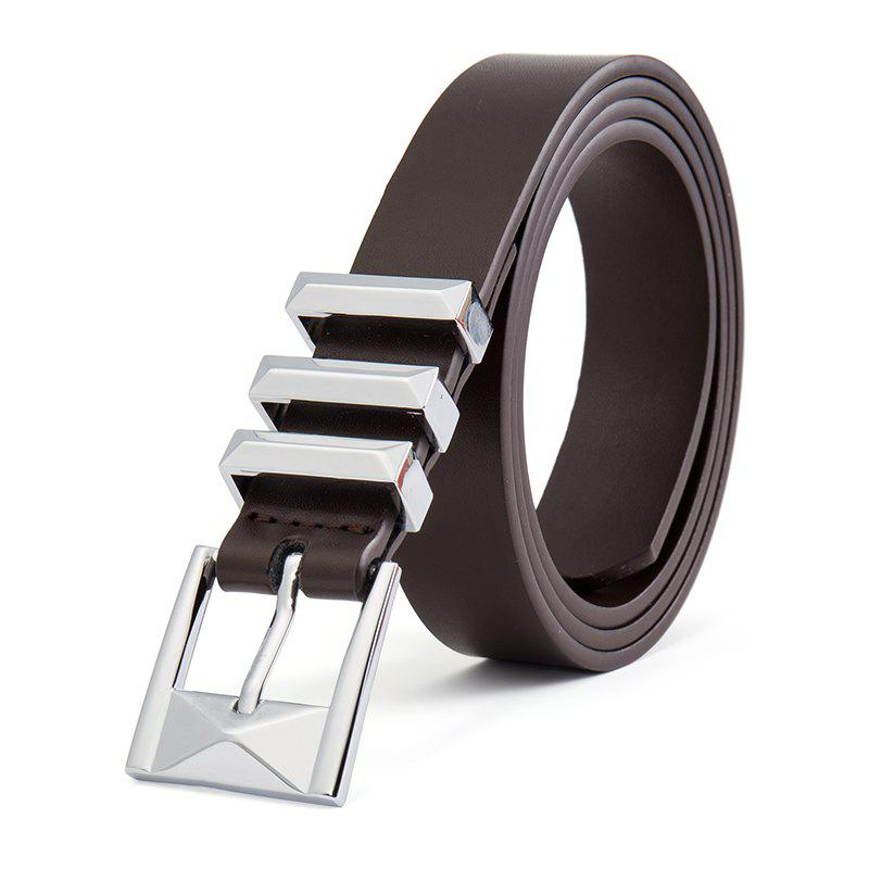 Hot New Stereo Pin Buckle Belt Second Floor Cowhide Universal Belt for Men and Wome