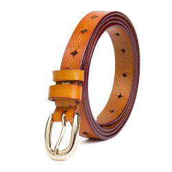 New Leather Style Hollow Belt Casual Comfortable Ladies Belt -
