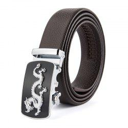 New Top Layer Cowhide Men'S Belt Business Casual Alloy  Belt -