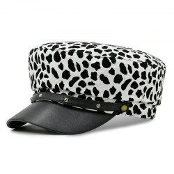 Leopard navy cap + size code for 56-58 -