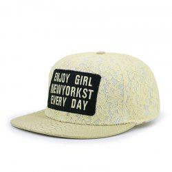 Letter lace hip hop flat cap + adjustable for 56-59CM head circumference -