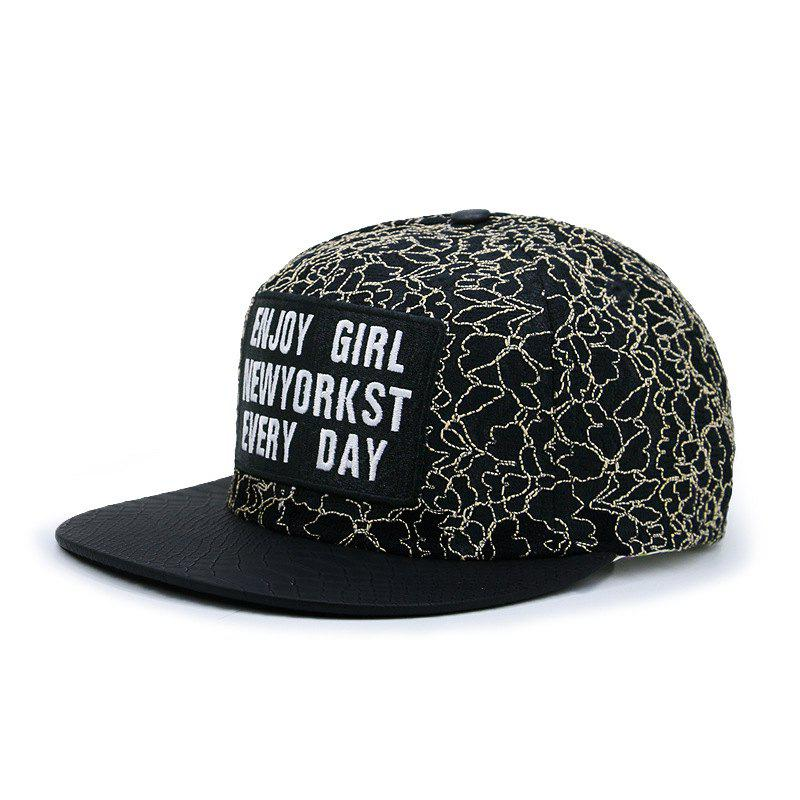 Affordable Letter lace hip hop flat cap + adjustable for 56-59CM head circumference