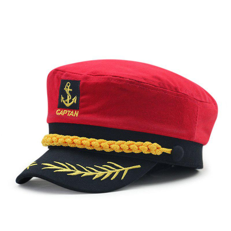 Best Wheat ear embroidery captain cap + size code for 56-57cm head circumference