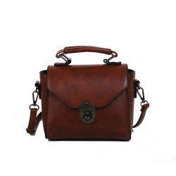 Mode Retro Ladies Messenger Bag Casual Sac à bandoulière en PU -