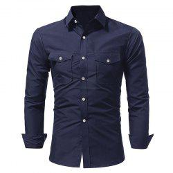 Chemise Casual Double Sac Double Pour Homme -