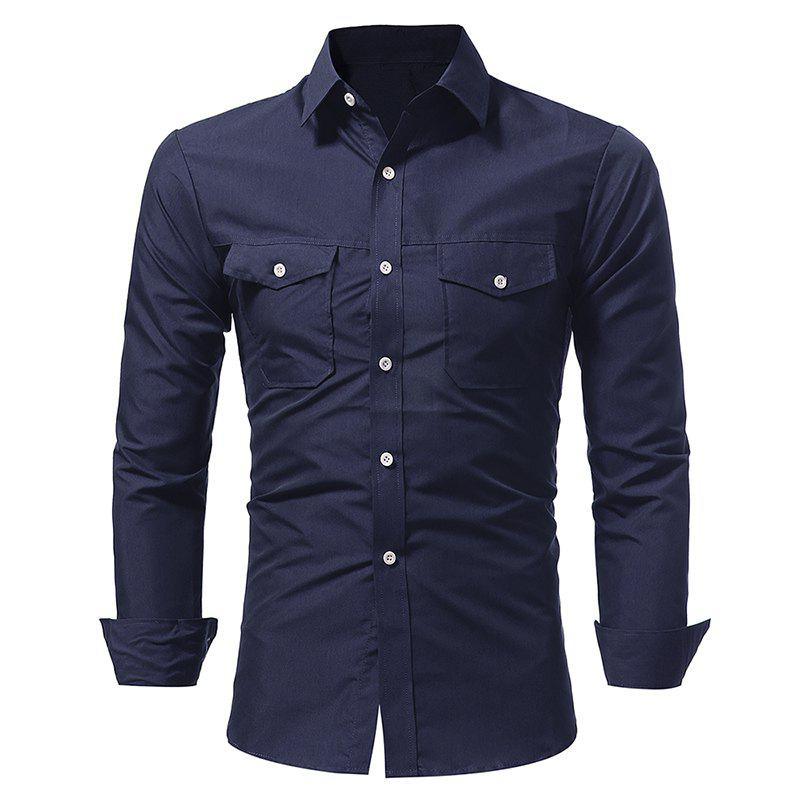 Chemise Casual Double Sac Double Pour Homme