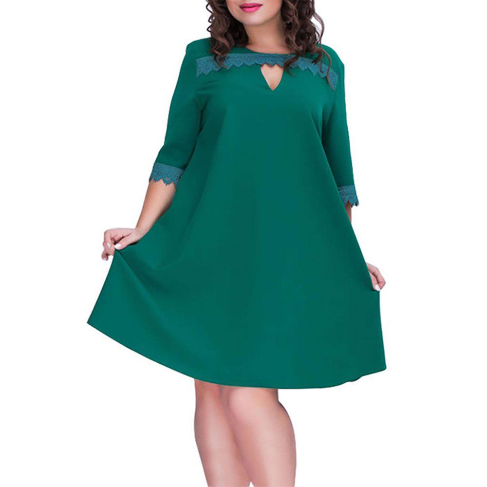0bb668bbcf62 Casual Women Dress Plus Size A-line Style Summer Dress Female 2019 Fashion  - 3xl