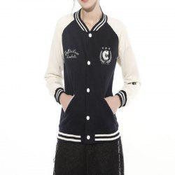 Women'S Hoodies Casual Fashion Matching Color Letters Coat -