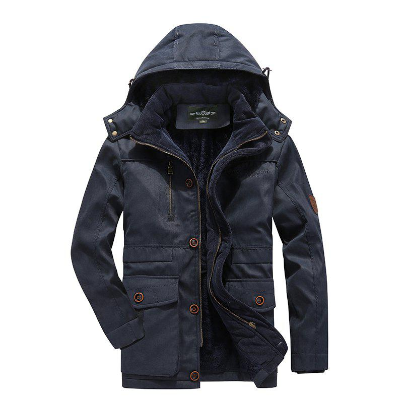 Trendy Middle-Aged Men'S Cotton Coat