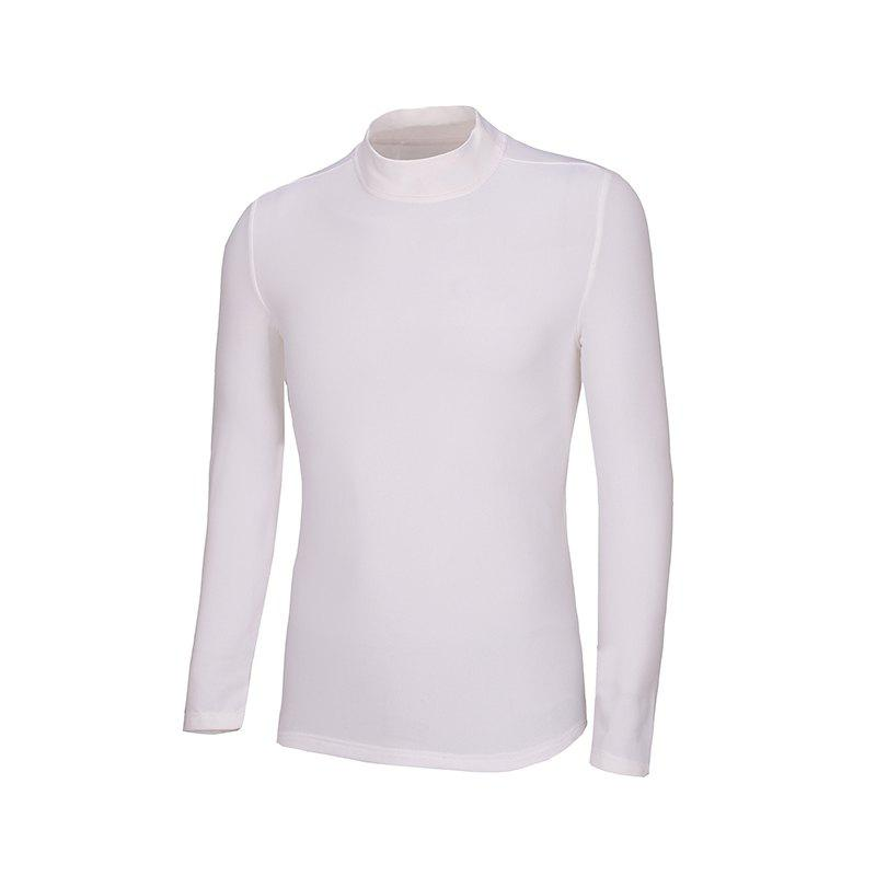 Best Men'S Autumn and Winter Warm Round Collar High Collar Long Sleeve T-Shirt