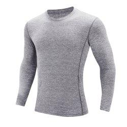 Men'S sports Leisure Round Collar Long-Sleeved T-Shirt -