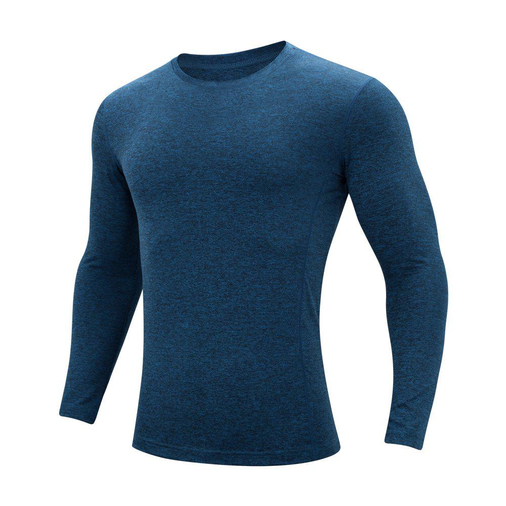 Discount Men'S sports Leisure Round Collar Long-Sleeved T-Shirt