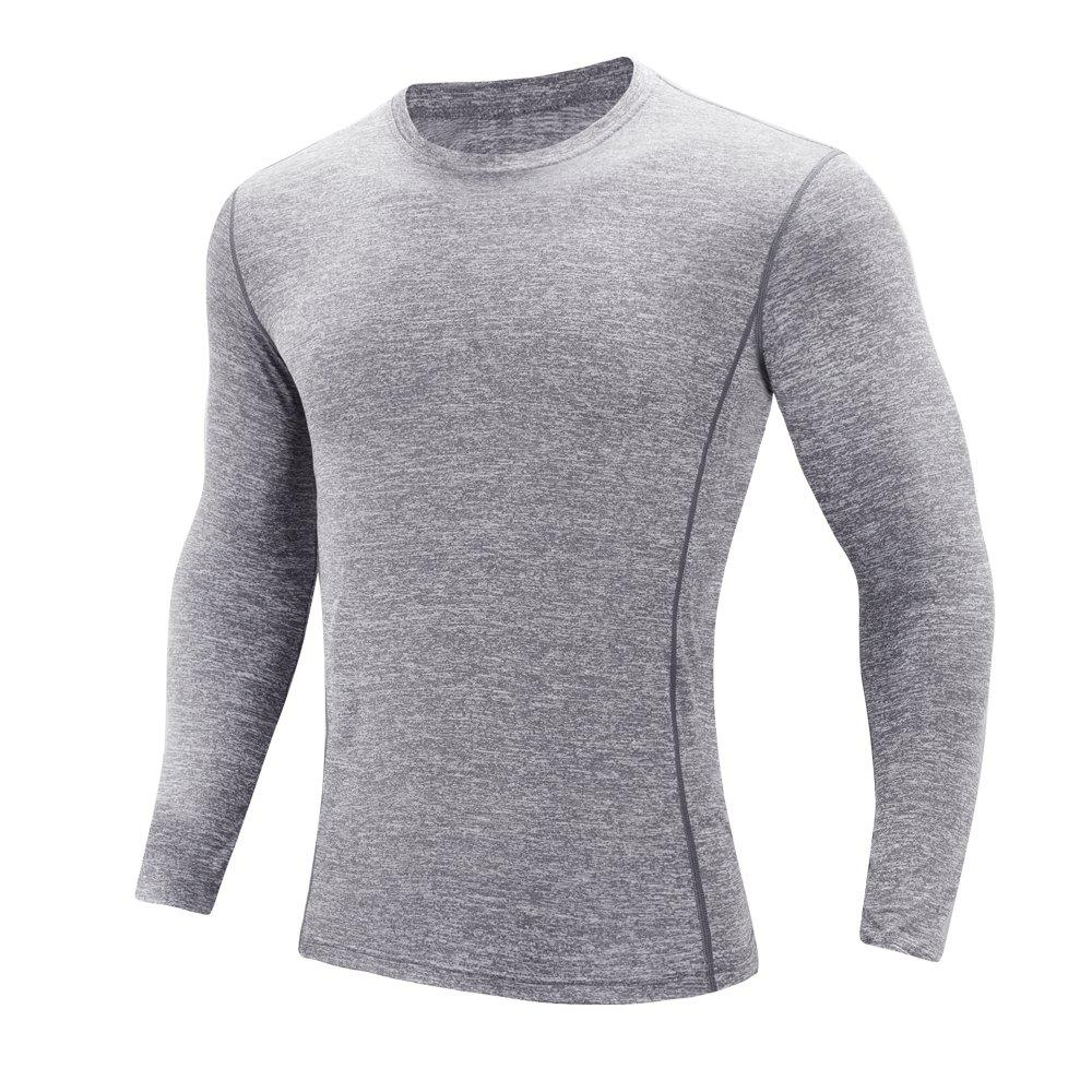 Cheap Men'S sports Leisure Round Collar Long-Sleeved T-Shirt
