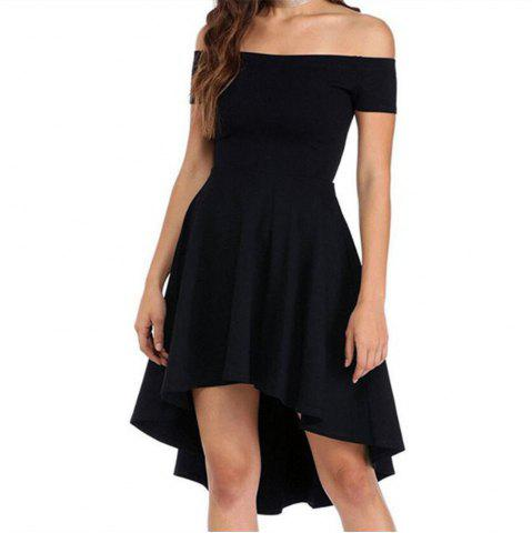 Front Short Back Long Short Sleeve Dress