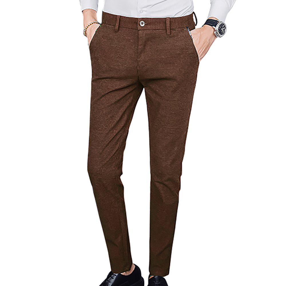 Store Men's Solid Color Straight Leg Casual Pants