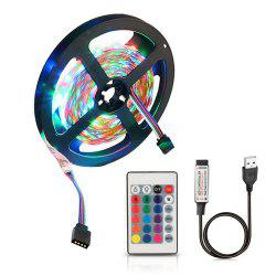 ZDM  USB 5V Flexible Discoloration RGB 2835 LED String Lamp with Remote Control -