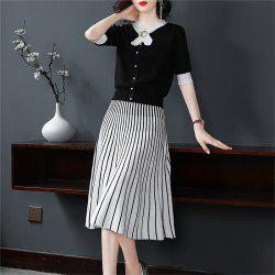 Fashion Top with Half Skirt Two Pieces -