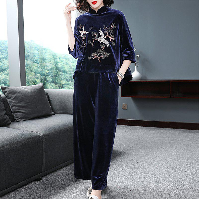 Trendy Fashion Pure Color Embroidery Set