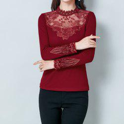 Ladies' Long Sleeve Semi-High Collar Warm-Keeping Clothes in Autumn and Winter -