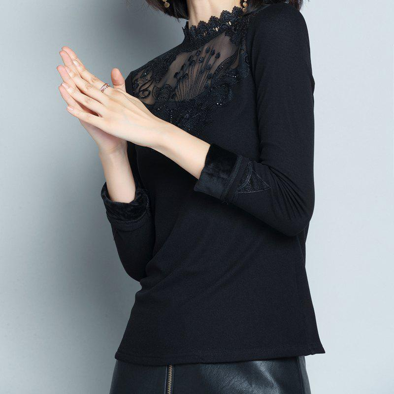 Sale Ladies' Long Sleeve Semi-High Collar Warm-Keeping Clothes in Autumn and Winter
