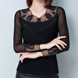 New Lady's Lace Long Sleeve Bottom Shirt -