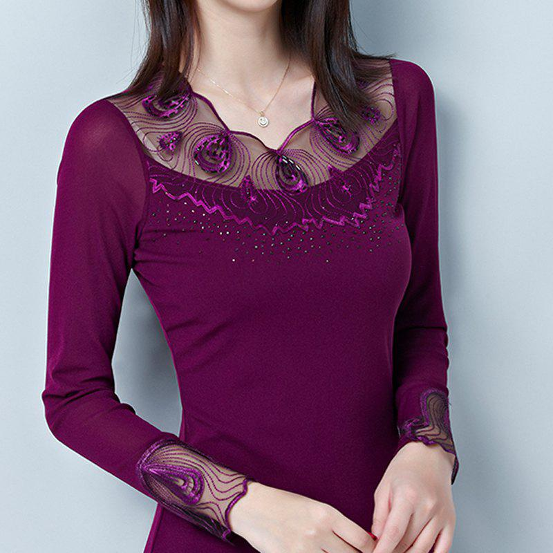 Unique New Lady's Lace Long Sleeve Bottom Shirt